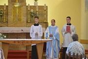 Privítanie p. kaplána Mgr. J. Šimúna