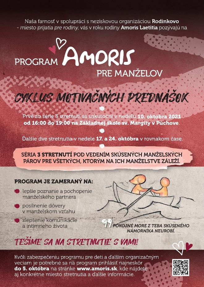 Program AMORIS pre manželov - plagát